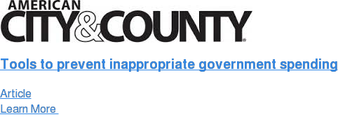 Tools to prevent inappropriate government spending Article Learn More