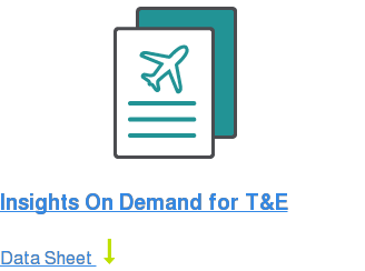 Insights On Demand for T&E Data Sheet