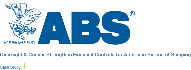 Oversight & Concur Strengthen Financial Controls for American Bureau of  Shipping Case Study