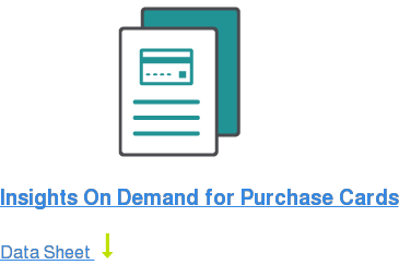 Insights On Demand for Purchase Cards Data Sheet