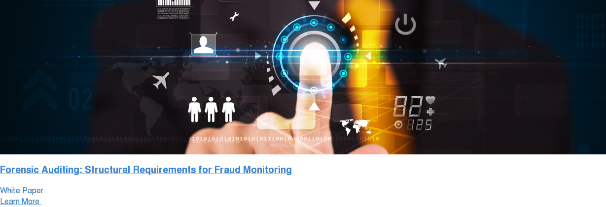 Forensic Auditing: Structural Requirements for Fraud Monitoring White Paper Learn More