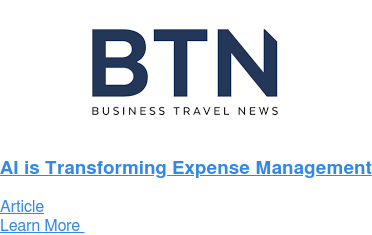 AI is Transforming Expense Management Article Learn More
