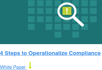 4 Steps to Operationalize Compliance White Paper