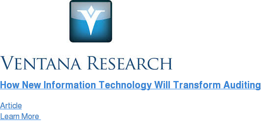 How New Information Technology Will Transform Auditing Article Learn More