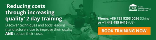CMC quality improvement training by increasing quality