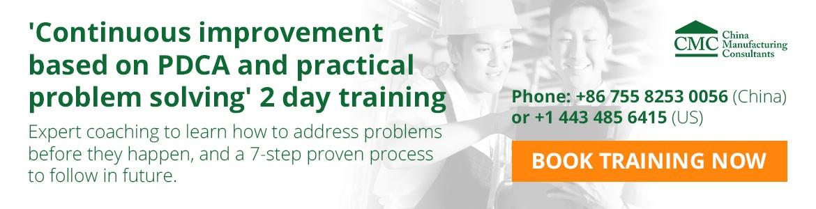 CMC quality improvement training based on PDCA and practical problem solving