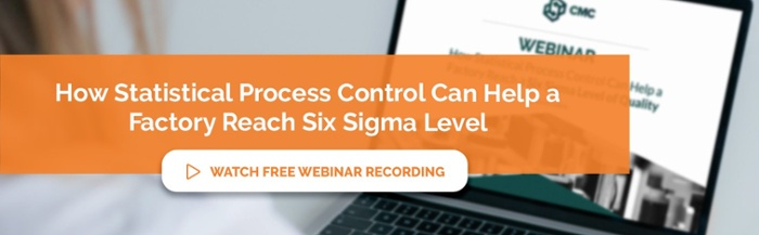 "Watch our free webinar recording ""How Statistical Process Control Can Help a Factory Reach Six Sigma Level"""