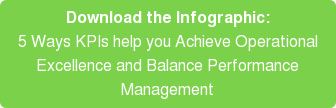 Download the Infographic: 5 Ways KPIs help you Achieve Operational Excellence and Balance Performance Management
