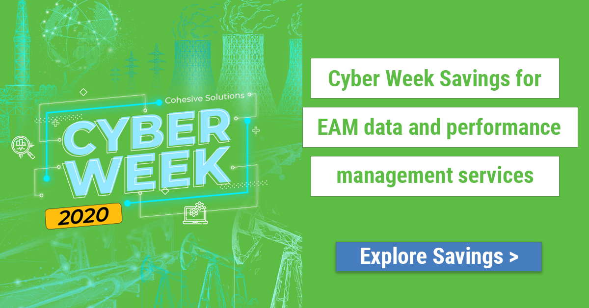 cyber week savings EAM data EAM performance management services