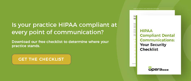 Is your practice HIPAA compliant at every point of communication? Get the free security checklist.