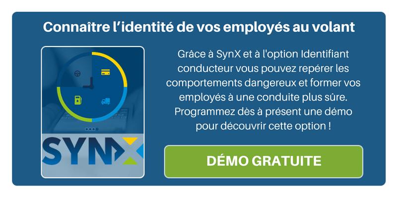 Programmez une démo de SynX avec l'option Identifiant conducteur pour connaître l'identité de vos employés en infraction !