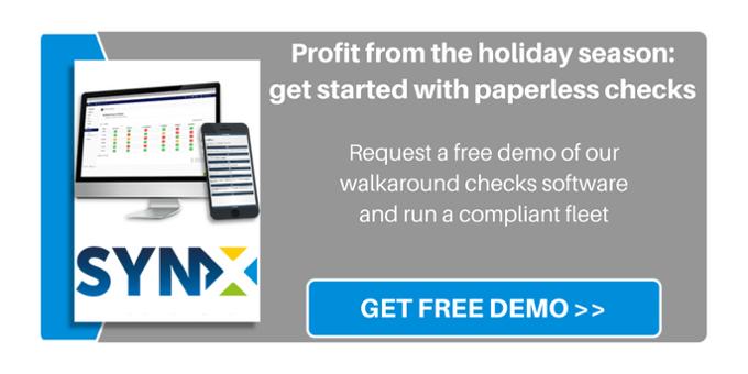 Walkaround checks software demo