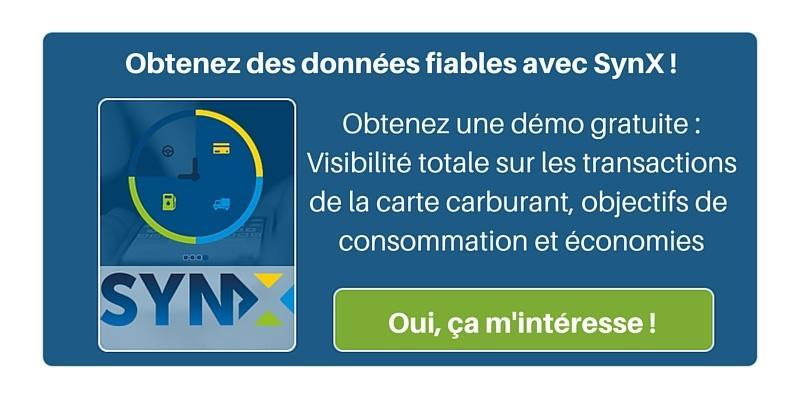 Données de consommation de carburant fiables - démo gratuite de SynX