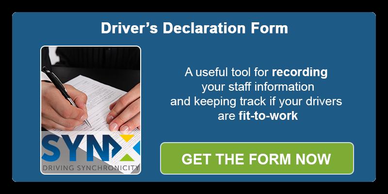 Driver's declaration form