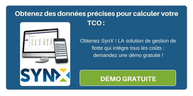 Obtenez des données précises pour calculer votre TCO : Obtenez SynX ! LA solution de gestion de flotte qui intègre tous les coûts : demandez une démo gratuite !