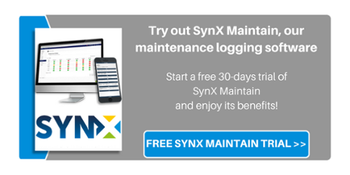 Sign up for a free SynX Maintain trial - Maintenance logging software