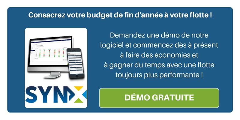 Consacrez votre budget de fin d'année à votre flotte pour toujours plus de performance grâce à SynX ! Demandez une démo de notre solution !