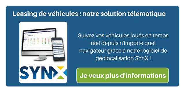 Leasing de véhicules : notre solution télématique. Suivez vos véhicules loués en temps réel depuis n'importe quel navigateur grâce à notre logiciel de géolocalisation SynX !