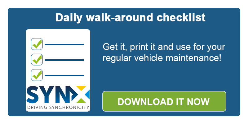 Daily walk-around checklist - FREE download