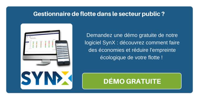 Gestionnaire de flotte dans le secteur public ? Demandez une démo gratuite de notre logiciel SynX : découvrez comment faire des économies et réduire l'empreinte écologique de votre flotte !