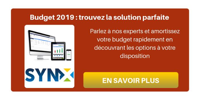 Budget 2019 : trouvez la solution parfaite grâce à nos solutions SynX et apprenez encore plus d'astuces et de bonnes pratiques