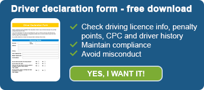 Driver declaration form - free download