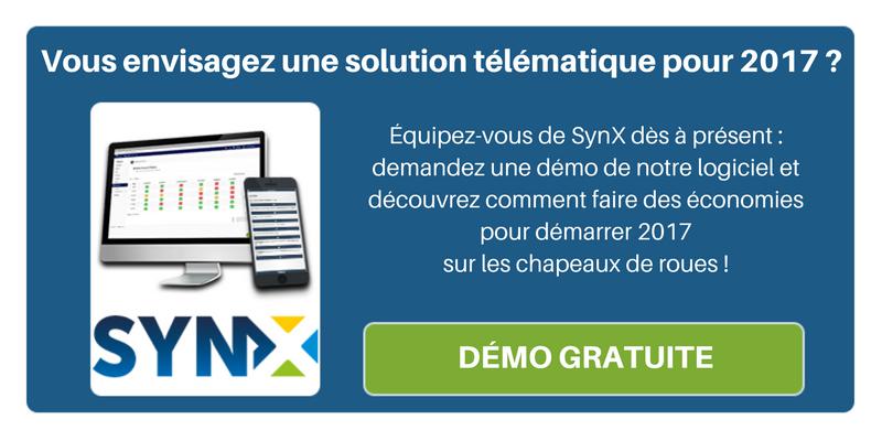 Découvrez tous les avantages qu'une solution télématique peut vous apporter en 2017, demandez une démo de SynX !