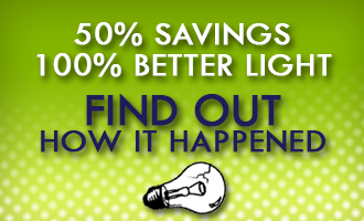 find out how lighting saved 50%