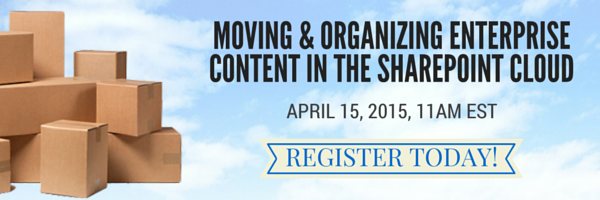 Register for Moving Enterprise Content Webinar