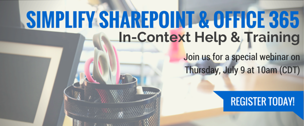 Simplify SharePoint and Office 365 webinar
