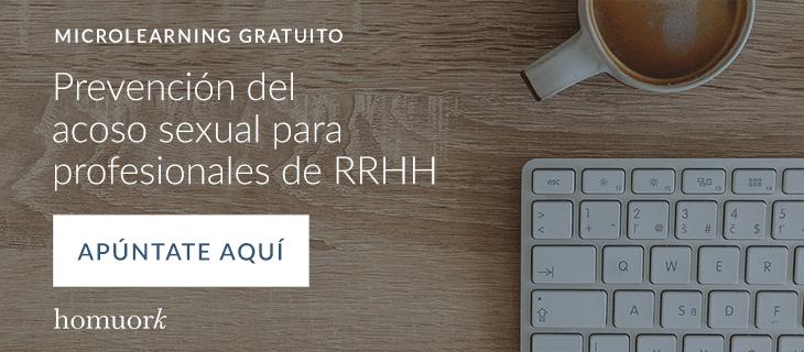 Microlearning gratuito - Prevención del acoso sexual para profesionales de RRHH