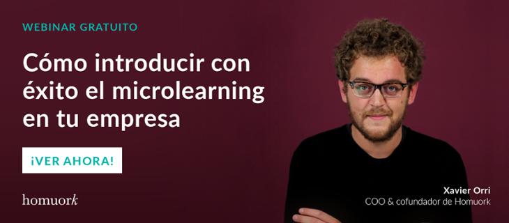 Webinar gratuito - Cómo introducir con éxito el microlearning en tu empresa
