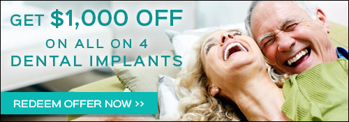 Get $1,000 OFF the All on 4 Dental Implants Procedure!