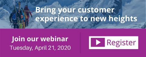 Bring your customer experience to new heights webinar call-to-action