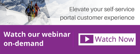 Elevate your self-service portal customer experience - on-demand webinar button