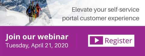 Elevate your self-service portal customer experience webinar call-to-action