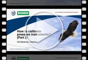 How to calibrate pressure instruments, Part 2 - Beamex webinar