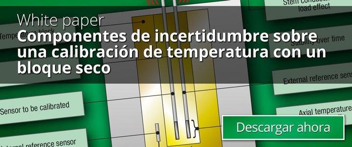 Componentes de incertidumbre sobre una calibración de temperatura con un bloque seco