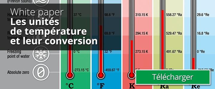 Les unités de température et ler conversion