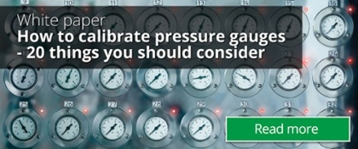 How to calibrate pressure gauges - Download White Paper