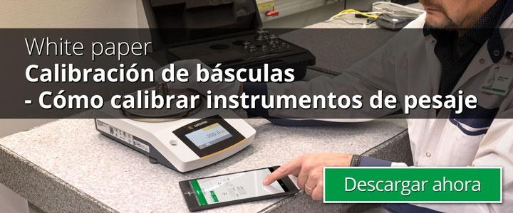 Calibración de básculas- Cómo calibrar instrumentos de pesaje