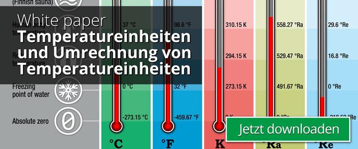 Temperatureinheiten und Umrechnung von Temperatureinheiten   Beamex white paper