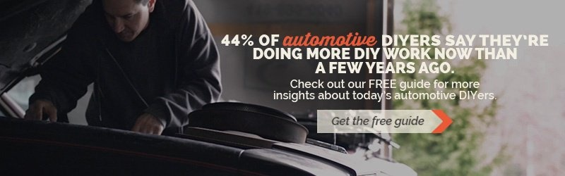 man working under hood of car, 44 percent of automotive diyers say they are doing more work now, invitation to download guide to automotive diyers