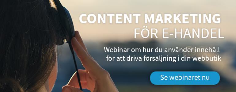 Content marketing för e-handel: webinar
