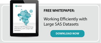 Working with Large SAS Datasets Clinical Programming