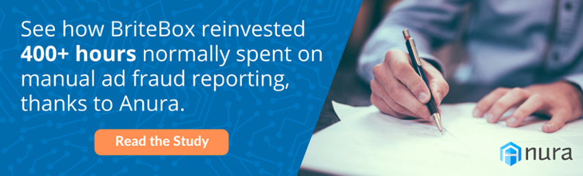 See how BriteBox reinvested 400+ hours normally spent on manual ad fraud reporting, thanks to Anura. Read the study.