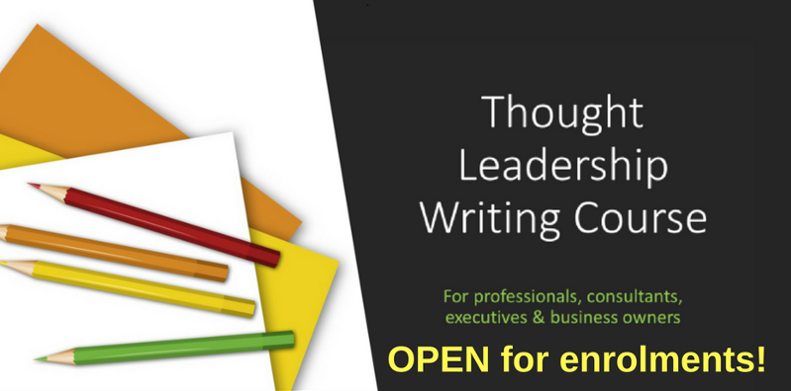 Thought leadership writing course