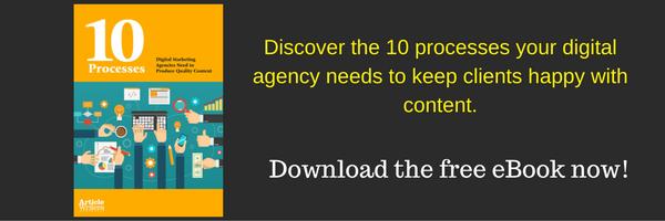 Content creation processes for digital agencies