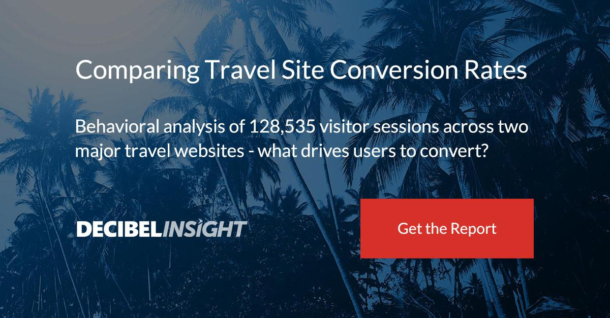 Comparing Travel Site Conversion Rates