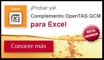 OpenTAS Complemento para Excel